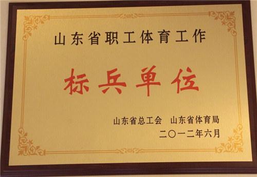 山东省职工体育工作标兵单位