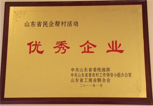 民企帮村活动优秀企业