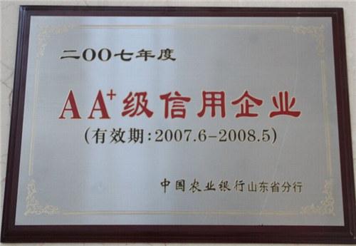 AA+信用企业